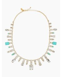 kate spade new york | Blue Opening Night Spray Necklace | Lyst