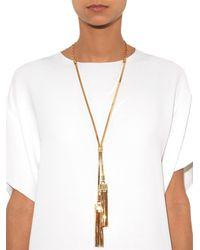 Lanvin | Metallic Art Deco Tassel Necklace | Lyst