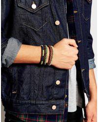 ASOS | Brown Leather Bracelet Pack for Men | Lyst