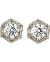 Cathy Waterman | Metallic Hexagonal Studs | Lyst