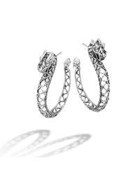 John Hardy | Metallic Naga Hoop Earring | Lyst