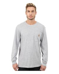 Carhartt - Gray Maddock Graphic Dog And Field Long Sleeve Pocket Tee for Men - Lyst