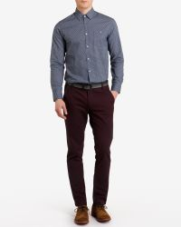 Ted Baker - Blue Trammo Tile Print Cotton Shirt for Men - Lyst