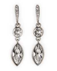 Givenchy | Metallic Silver-Tone Double Drop Earrings | Lyst