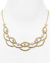 "Carolee - Metallic Pavé Frontal Bib Necklace, 17"" - Lyst"