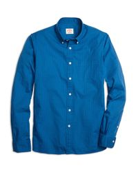 Brooks Brothers | Blue Gingham Oxford Sport Shirt for Men | Lyst