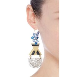 Lulu Frost | Blue '100 Year Vintage' Crystal Acetate Drop Earrings | Lyst