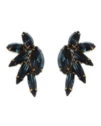 Elizabeth Cole | Blue Mareko Earrings, Navy | Lyst