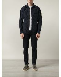 Stone Island - Blue Zip Front Jacket for Men - Lyst