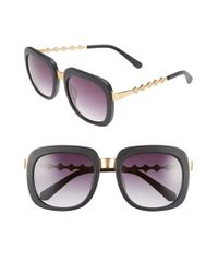 Freida Rothman | Black 'serena' 57mm Square Sunglasses | Lyst