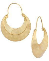 Steve Madden - Metallic Gold-Tone Hammered Crescent Moon Drop Earrings - Lyst