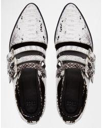 ASOS | Black Magic Trick Flat Shoes | Lyst