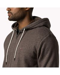 Tommy Hilfiger | Brown Big & Tall Zip Through Hoody for Men | Lyst
