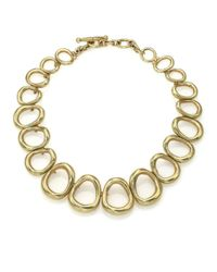 Vaubel - Metallic Graduated Oval Link Collar Necklace - Lyst