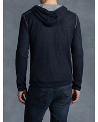 John Varvatos - Blue Cotton Double Layer Pullover for Men - Lyst