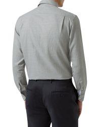Aquascutum - Gray Tobias Check Shirt for Men - Lyst