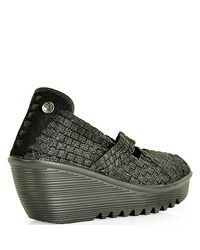 Bernie Mev - Black Mesh Wedge - Lyst