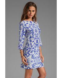 Shoshanna - Kaleidoscope Print Meira Dress in Blue - Lyst