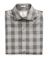 Todd Snyder | Gray Carey Dress Shirt In Grey And Tan Check for Men | Lyst