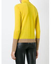 Rag & Bone   Yellow Colour Block Turtleneck Sweater   Lyst