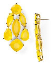 kate spade new york - Yellow Statement Earrings - Lyst