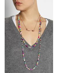 Isabel Marant - Pink Yakata Set Of Two Necklaces - Lyst