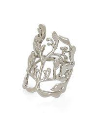 BCBGMAXAZRIA - Metallic Branch Ring - Lyst