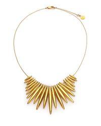 Michael Kors | Metallic Matchstick Spike Statement Necklace | Lyst
