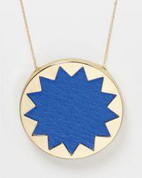 House of Harlow 1960 - Blue Sunburst Pendant Necklace 36 - Lyst