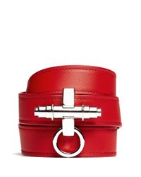 Givenchy | Red Obsedia Triple Wrap Leather Bracelet | Lyst