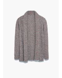 Violeta by Mango | Brown Metallic Detail Cardigan | Lyst