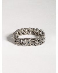 John Varvatos | Metallic Sterling Silver Link Bracelet for Men | Lyst