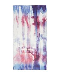 Lily and Lionel - Purple London Eye Sunset Silk-blend Scarf - Lyst