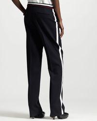 Stella McCartney - Blue Wide-leg Contrast-stripe Tuxedo Pants - Lyst