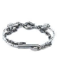 Anchor & Crew - Metallic Grey Dash Belfast Rope Bracelet for Men - Lyst