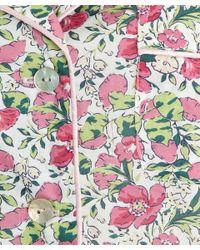 Liberty - Pink Poppy And Honesty Short Cotton Pyjama Set - Lyst