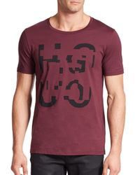 Saks Fifth Avenue | Purple Dimension Logo Cotton Tee for Men | Lyst