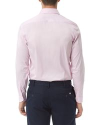 Lacoste - Blue Long Sleeve City Shirt for Men - Lyst