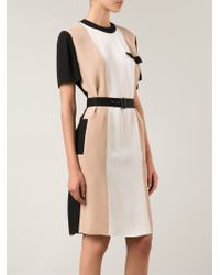 Lanvin | White Striped Dress | Lyst