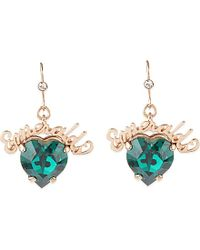 Mawi | Green Emeralds Crystal Drop Earrings - For Women | Lyst