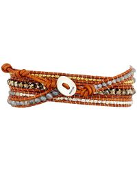 Chan Luu | 32' Lab Mix/natural Brown Wrap Bracelet | Lyst