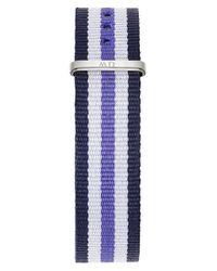 Daniel Wellington - Blue 'classic Trinity' 18mm Nato Watch Strap - Lyst
