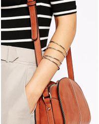 Oasis | Metallic Curved Cuff Multipack Bracelet | Lyst