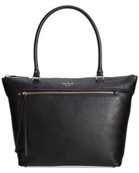 kate spade new york | Black Cobble Hill Gina Tote | Lyst