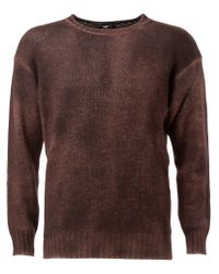 Avant Toi - Brown Distressed Sweater for Men - Lyst