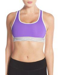 Calvin Klein - Purple 'pulse' Racerback Sports Bra - Lyst