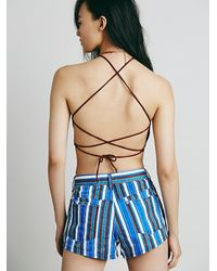 Free People - Purple Intimately Womens Lace Up Brami - Lyst