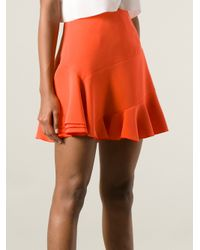 Victoria Beckham | Orange Flared Skirt | Lyst