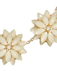 H&M - Metallic Necklace With Floral Pendants - Lyst
