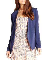 BCBGeneration | Blue Open-front Jacket | Lyst